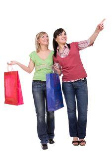 Free Shopaholics Royalty Free Stock Image - 8603226