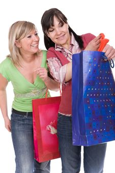 Free Shopaholics Royalty Free Stock Photography - 8603237
