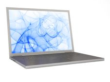 Laptop Isolated On White Background Royalty Free Stock Photos