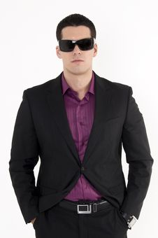 Free Young Man With Sunglasses Stock Photography - 8603642