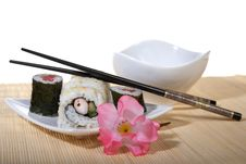 Free Sushi Plate With Chopsticks Stock Images - 8603644