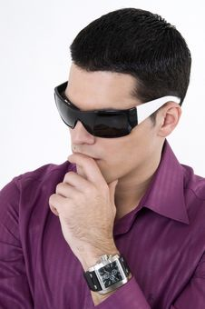 Free Young Man With Sunglasses Royalty Free Stock Photography - 8603677