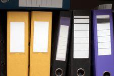 Folders On A Shelf Royalty Free Stock Image