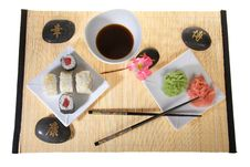 Free Sushi Plate With Chopsticks Stock Images - 8603764