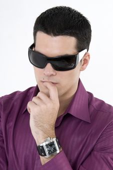 Free Young Man With Sunglasses Royalty Free Stock Photos - 8603858