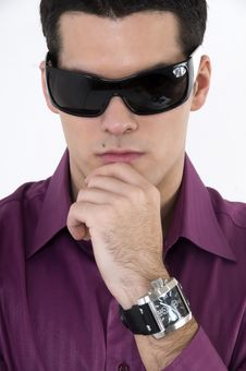 Free Young Man With Sunglasses Stock Photos - 8603913