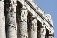 Rome, The Forum; Temple Of Antonino And Faustina Royalty Free Stock Photos
