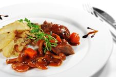 Free Stewed Beef With Potato Royalty Free Stock Photos - 8604448
