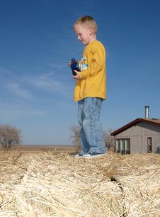 Free Young Boy On Hay Royalty Free Stock Image - 8604656