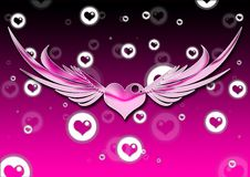 Free Heart With Wings Royalty Free Stock Image - 8604696