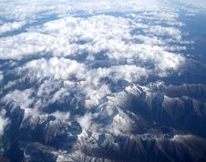 Free Alps From Air Royalty Free Stock Photo - 8605115