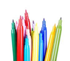 Free Color Pens Royalty Free Stock Photos - 8605328