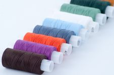 Free Colorful Sewing Spools Stock Photography - 8606392