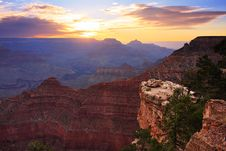 Grand Canyon Sunrise Royalty Free Stock Images