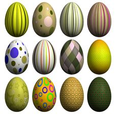 Free Easter Egg Collection Royalty Free Stock Image - 8607196