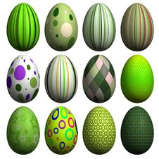 Free Easter Egg Collection Royalty Free Stock Photography - 8607227
