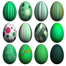 Free Easter Egg Collection Royalty Free Stock Photos - 8607348