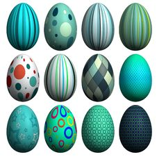 Free Easter Egg Collection Stock Photos - 8607413