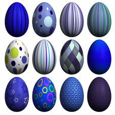 Free Easter Egg Collection Royalty Free Stock Image - 8607516