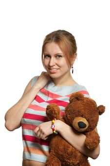 Free Girl With Bear Stock Images - 8607734