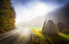Free Fall Country Road Stock Photos - 8607973