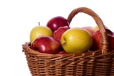 Free Basket Of Apples Stock Image - 8608341