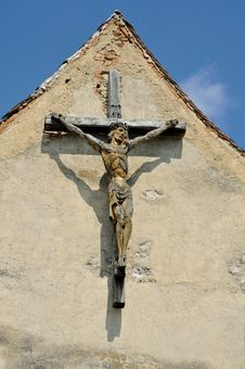 Wooden Cross Royalty Free Stock Photography