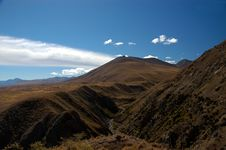 Free River Valley And Hills In The Mackenzie Country Royalty Free Stock Images - 8609499