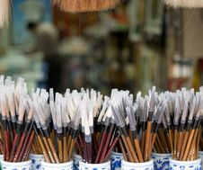 New Chinese Paint Brushes Stock Images