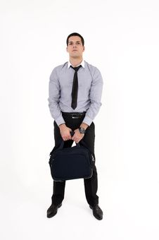 Free Businessman With Suitcase Stock Photo - 8609850