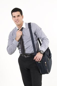 Free Businessman With Suitcase Royalty Free Stock Image - 8609946