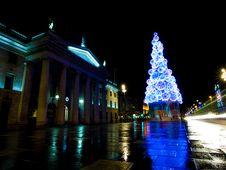 Free Dublin Christmas Lights Royalty Free Stock Photography - 86005347