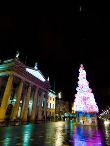 Free Dublin Christmas Lights Stock Images - 86005414