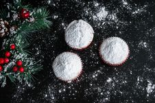 Free Christmas Muffins Royalty Free Stock Images - 86005709