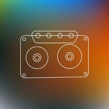 Free Music Tape Line Abstract Background. Vector Illustration Stock Photos - 86049723
