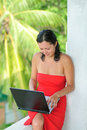 Free Beautiful Young Woman With Laptop Stock Images - 8610634