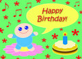 Free Happy Happy Birthday_Green Stock Photography - 8615742