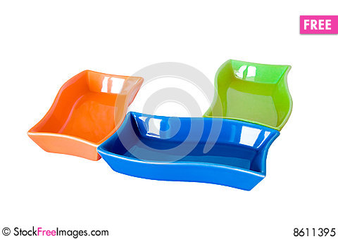 Free Three Colored Sauce-boats Royalty Free Stock Photo - 8611395