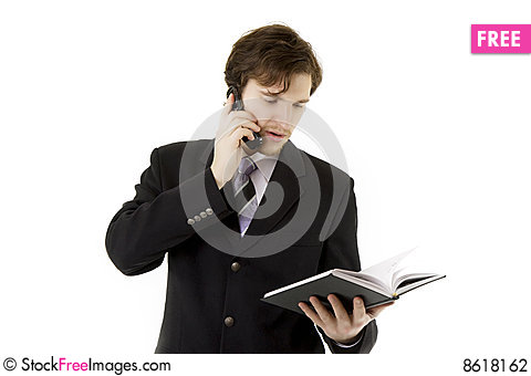 Free Businessman With Phone And Daily Stock Photography - 8618162