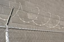 Free Razor Wire Chain Link Fence Stock Images - 8610214