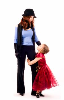 Free Mum With The Daughters Royalty Free Stock Image - 8610496