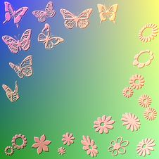 Free Flowers And Butterflies Royalty Free Stock Images - 8612489