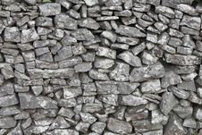 Free Dry Stone Wall Royalty Free Stock Photos - 8612658