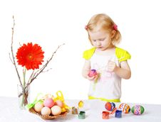 Free Girl With Easter Egg Royalty Free Stock Image - 8612786