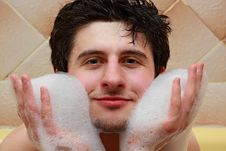 Free Portrait  Guys In The Bath Stock Photos - 8613333
