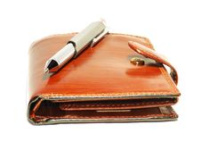 Free Purse And Pen Royalty Free Stock Photo - 8613355