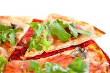 Sliced Tasty Pizza. Stock Photography