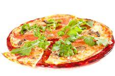 Sliced Tasty Pizza. Stock Images