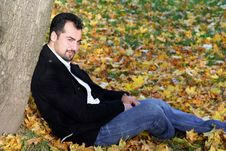 Free Man S Autumn Portrait Stock Photo - 8613870
