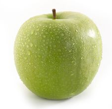 Free Wet Green Apple Stock Photo - 8614210